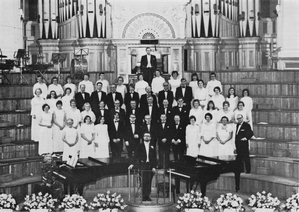 The Huddersfield Glee & Madrigal Society on its centenary in 1975